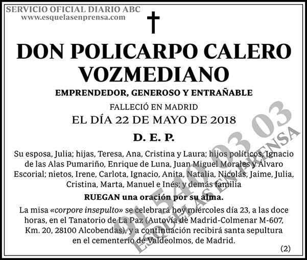 Policarpo Calero Vozmediano